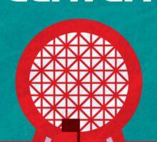 Retro Epcot Center Map Poster Sticker