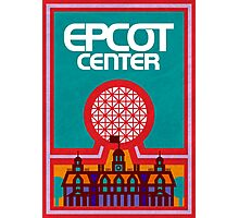 Retro Epcot Center Map Poster Photographic Print