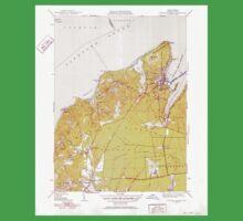 Massachusetts  USGS Historical Topo Map MA Vineyard Haven 352286 1951 31680 One Piece - Short Sleeve
