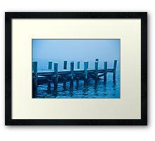 Misty Dockway Framed Print