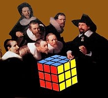 Rembrandts Rubik by Loui  Jover