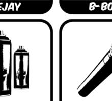 Four Elements of Hip-Hop Sticker