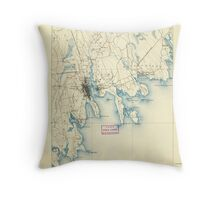 Massachusetts  USGS Historical Topo Map MA New Bedford 352879 1888 62500 Throw Pillow