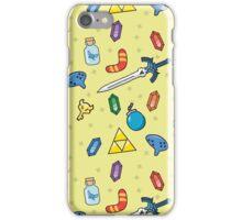 Zelda Inspired Item Bag Pattern iPhone Case/Skin