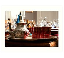 Morrocan Tea set Art Print
