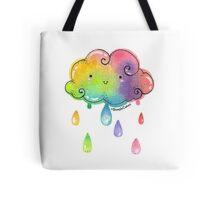 Kawaii Rainbow Cloud Tote Bag