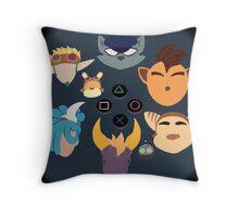 Sony Mascots Throw Pillow
