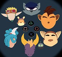 Sony Mascots by SurrealistDream