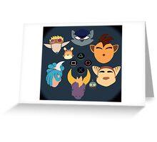 Sony Mascots Greeting Card