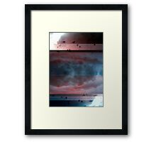 Composition With Abstracted Sky and Birds – October 9, 2010 Framed Print
