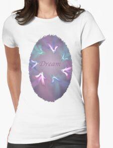 Circle Ribbon Dream Womens Fitted T-Shirt