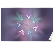 Circle Ribbon Dream Poster