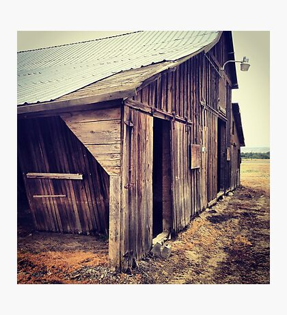 Rustic Red Barn with Tin Roof Photographic Print