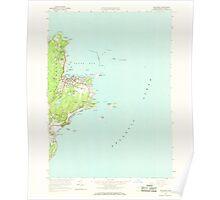 Massachusetts  USGS Historical Topo Map MA Rockport 350503 1960 24000 Poster