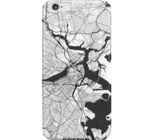 Boston Map Gray iPhone Case/Skin