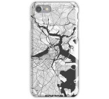 Boston Map Gray iPhone Case/Skin