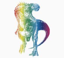 Rainbow Dinosaur: Party Rex One Piece - Short Sleeve
