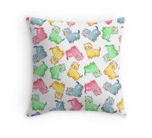 Kawaii Pastel Alpacas Throw Pillow