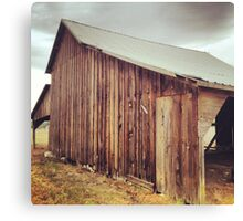 Rustic Red Barn with Tin Roof Canvas Print