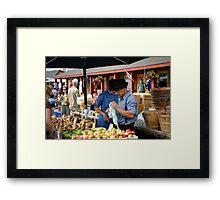 Thursday Market Framed Print