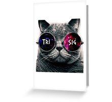 Tri Sig Galaxy Cat Greeting Card