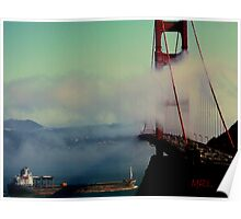 Golden Gate Bridge View from Sausalito Poster