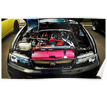 R33 GTR Engine Bay Poster