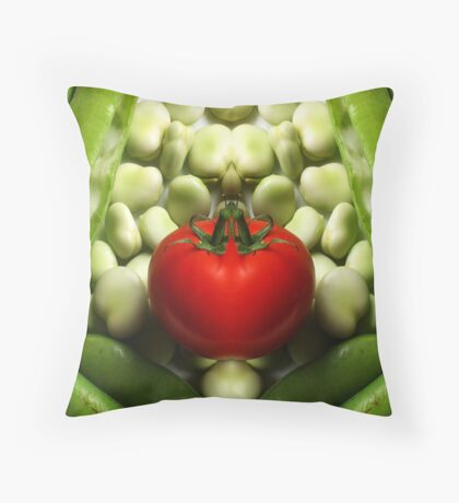 Double Tomato Throw Pillow
