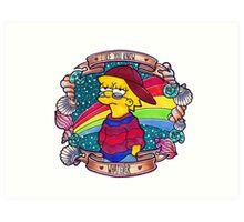 Lisa - Like you know... Whatever. Art Print
