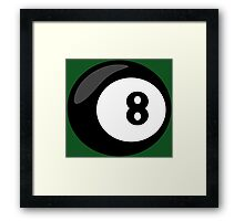 8 Ball Framed Print