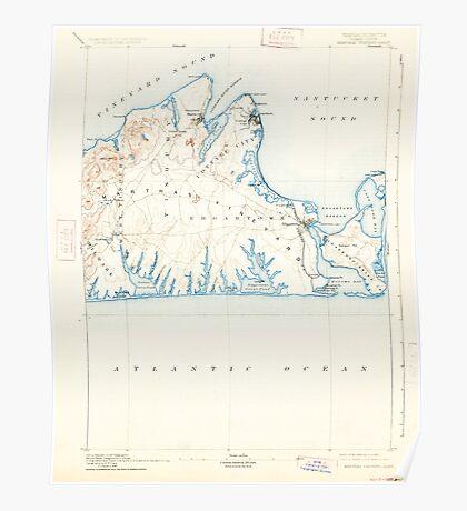 Massachusetts  USGS Historical Topo Map MA Marthas Vineyard 352841 1894 62500 Poster