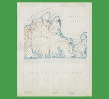 Massachusetts  USGS Historical Topo Map MA Marthas Vineyard 352841 1894 62500 Baby Tee