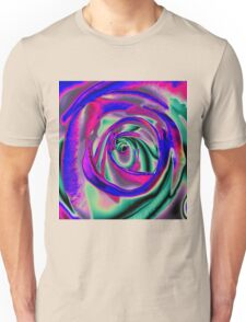 Blue and pink psychadelic Rose T Unisex T-Shirt