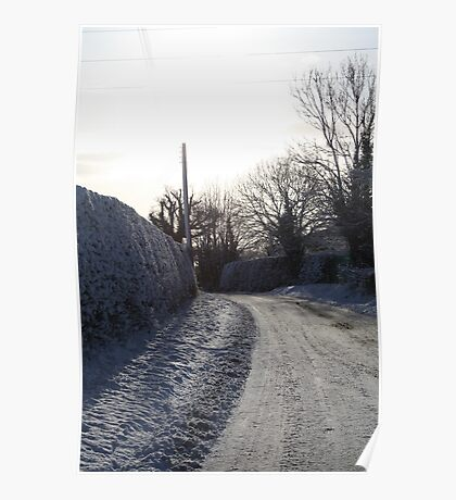 snowy lanes Poster