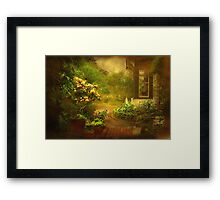 """The Little Brick Pathway ..."" Framed Print"