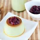 Green Tea Latte Pudding by the-novice
