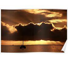 Beau Vallon Bay Sunset Poster