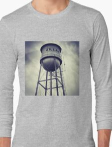 Small Town Water Tower Long Sleeve T-Shirt