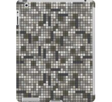 Tetris Inspired Grayscale Pattern iPad Case/Skin