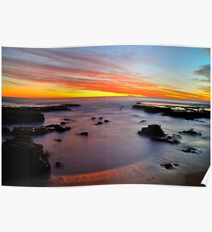 Avalon Beach Sunset Poster