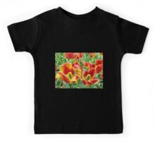 Yellow and Red Tulips For Everyone Kids Tee
