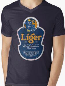 Liger Beer Tee Mens V-Neck T-Shirt