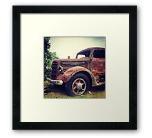 Rusty Broke Down Pickup Truck Framed Print