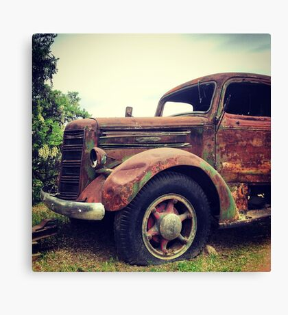 Rusty Broke Down Pickup Truck Canvas Print