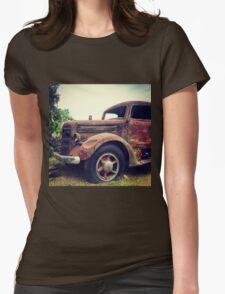 Rusty Broke Down Pickup Truck Womens Fitted T-Shirt