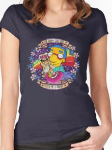 Milhouse - Oh Puppy Goo-Goo... Fetch me a dream! Women's Fitted Scoop T-Shirt