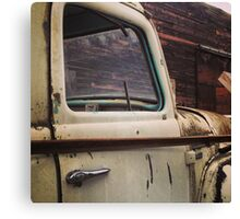 Rusty Ol' White Pickup Canvas Print
