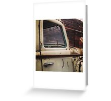 Rusty Ol' White Pickup Greeting Card