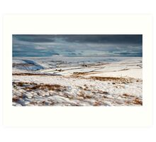 Winter moorland scene Art Print