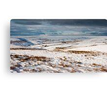 Winter moorland scene Canvas Print